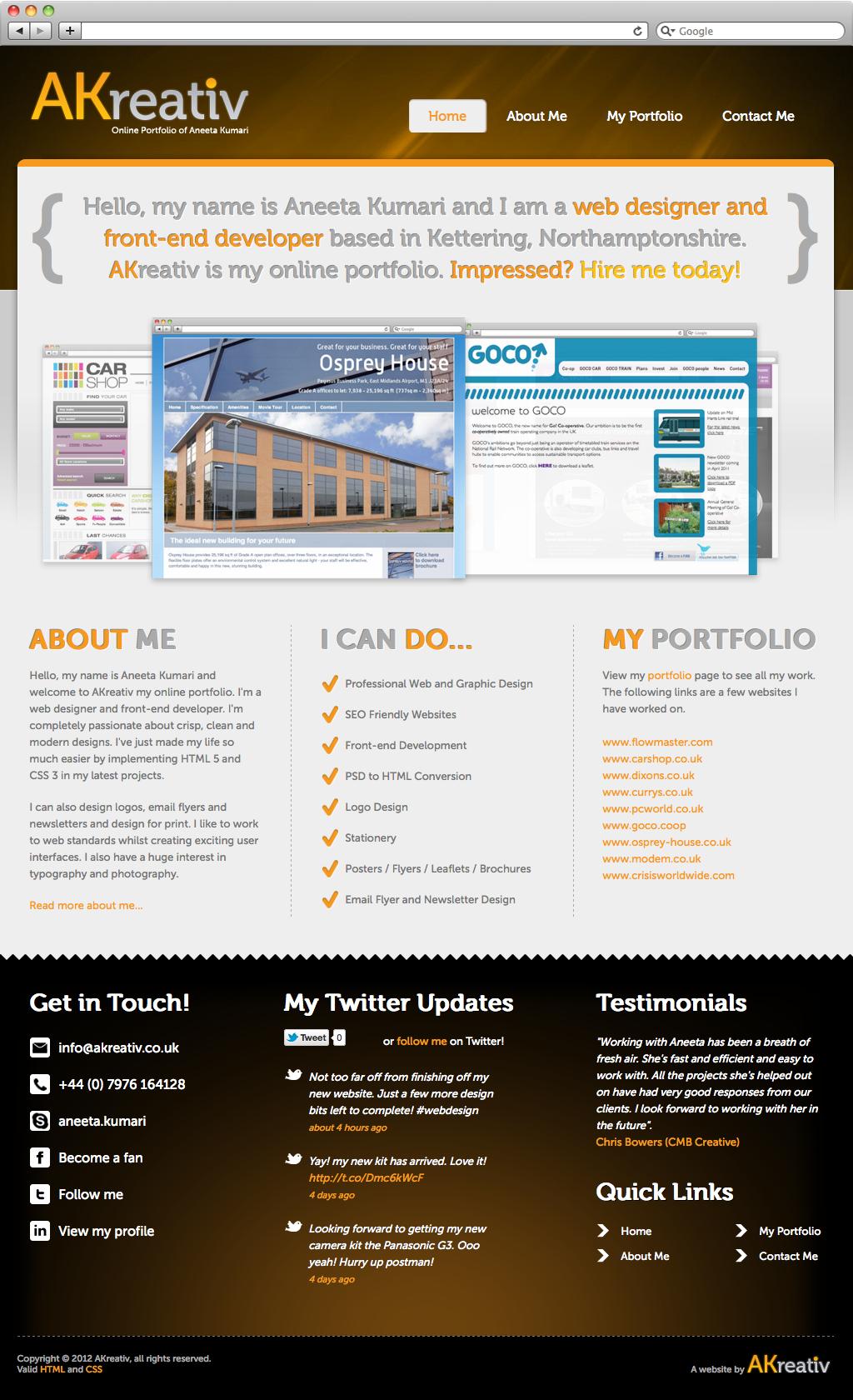 Akreativ original web design akreativ for Idee site web original